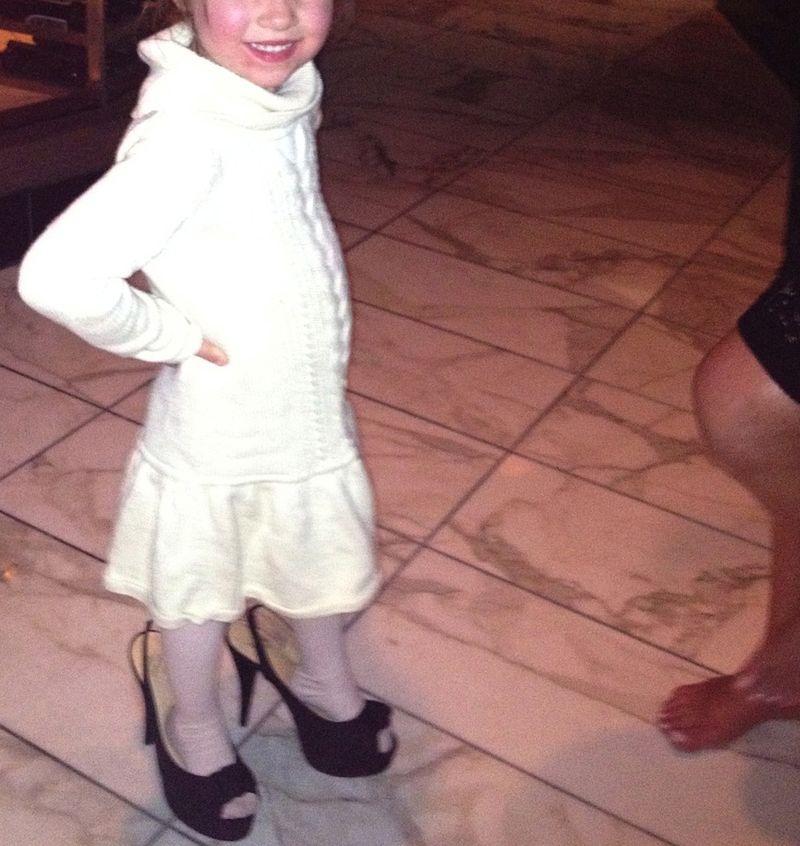 Little girl heels
